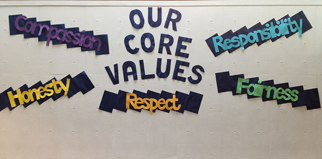St. Mary's core values banner