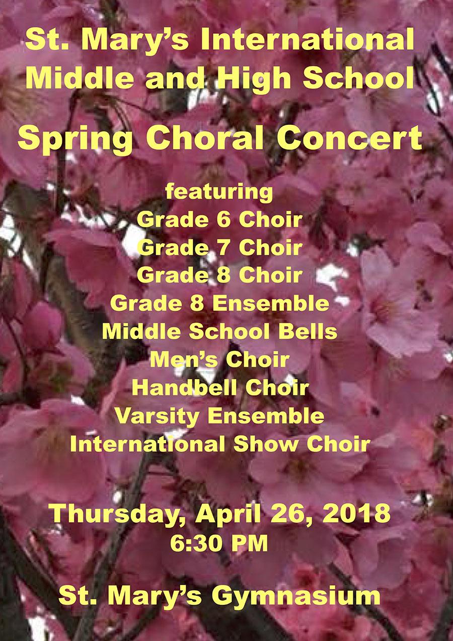 Spring Choral Concert poster