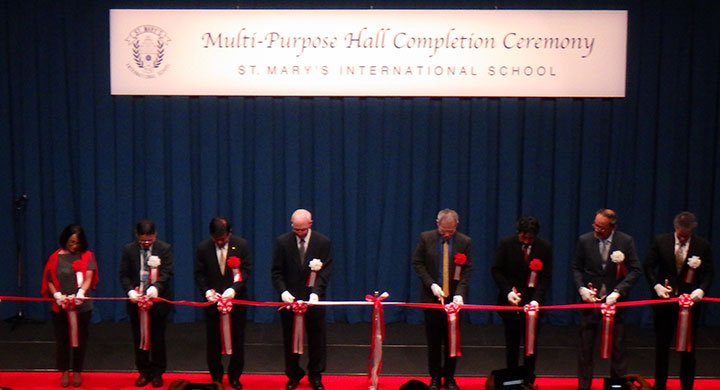 Multi-Purpose Hall ribbon cutting ceremony